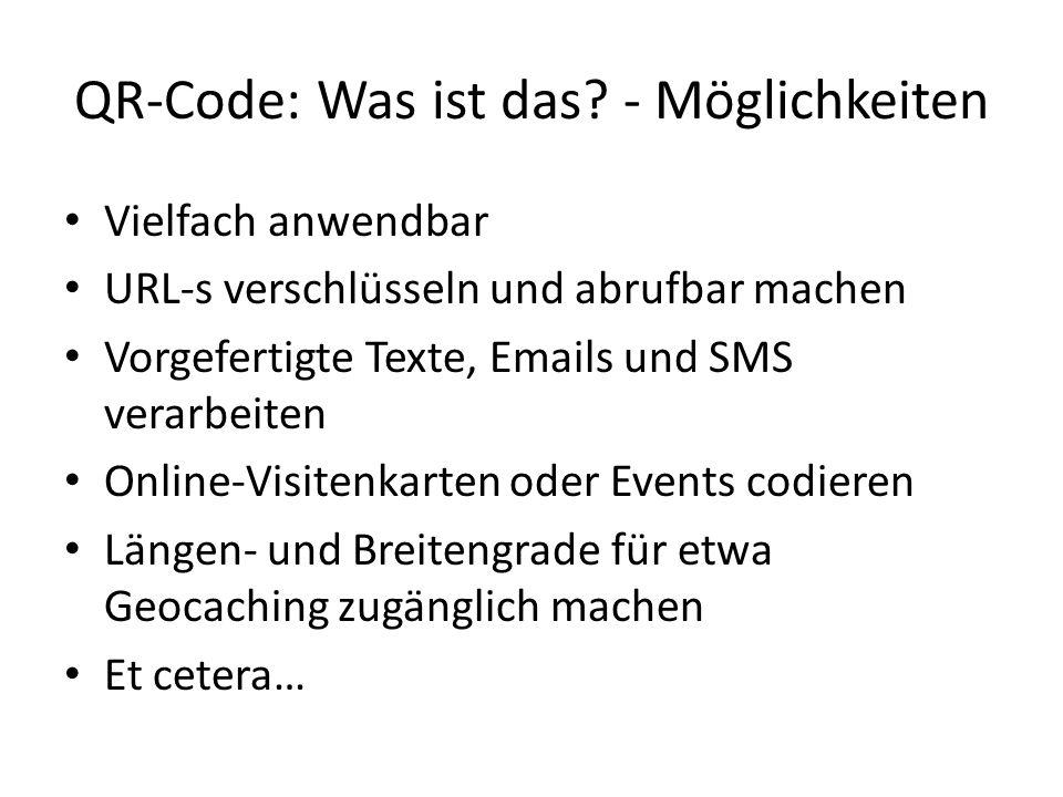 QR-Code: Was ist das - Möglichkeiten