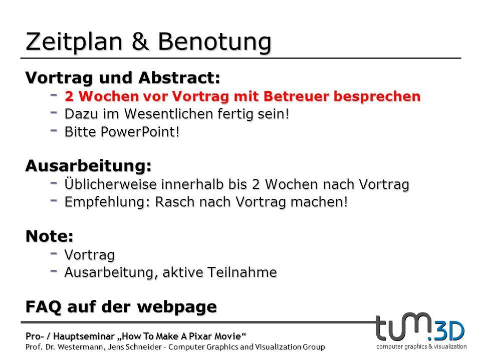 Registrierung: Webpage, ab heute.