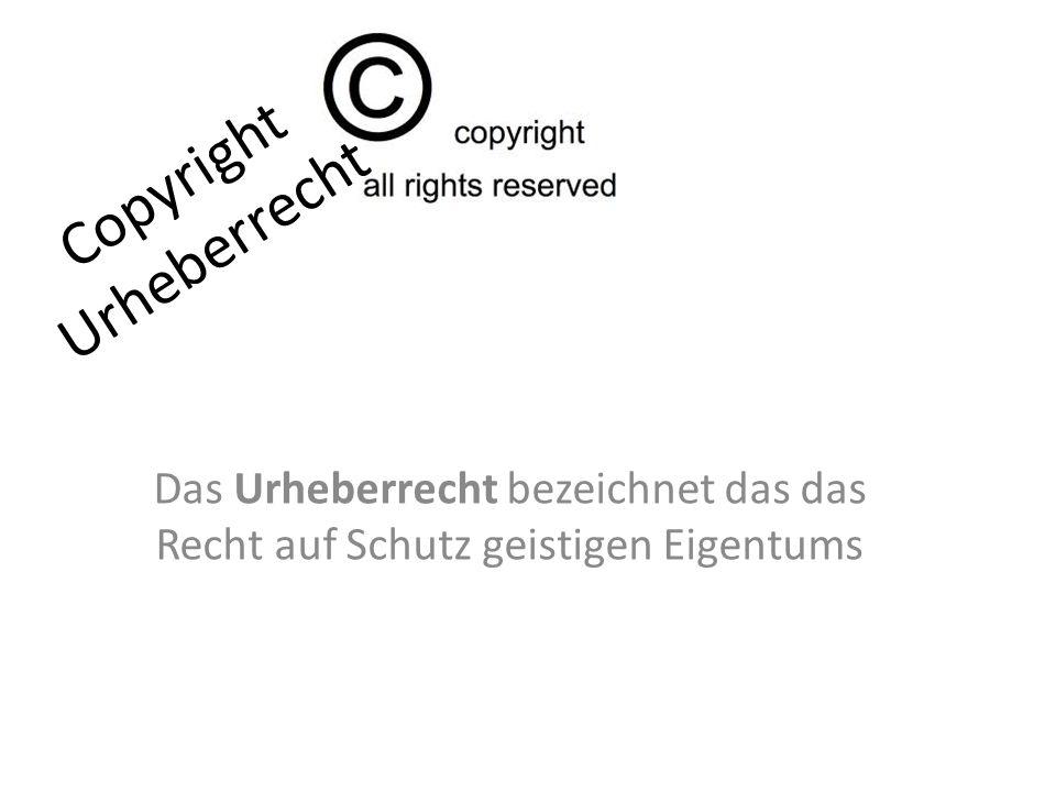 Copyright Urheberrecht