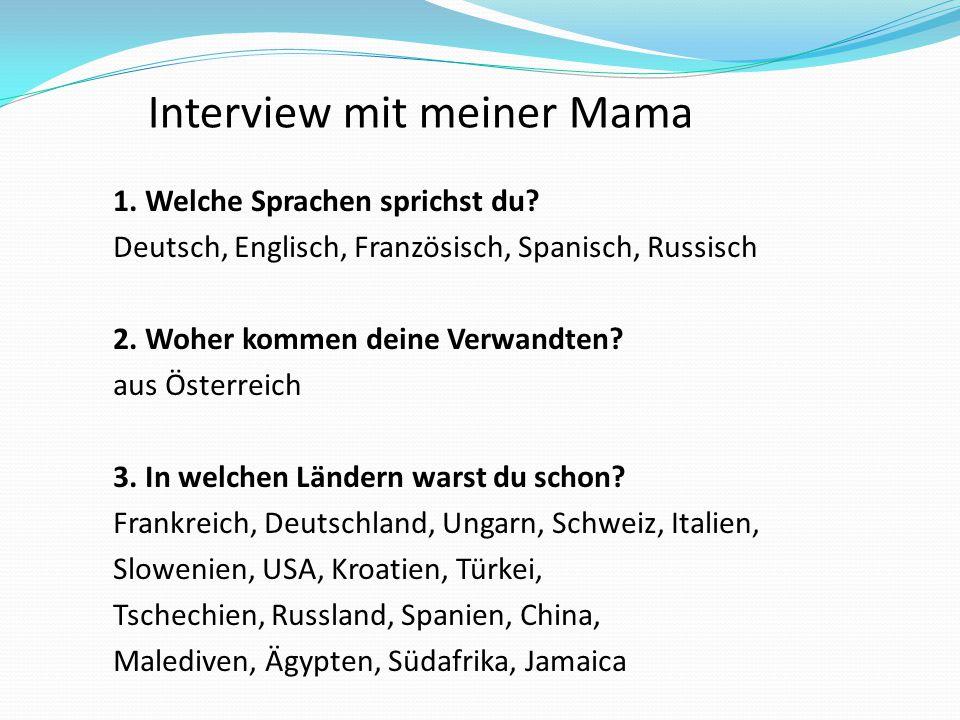 Interview mit meiner Mama