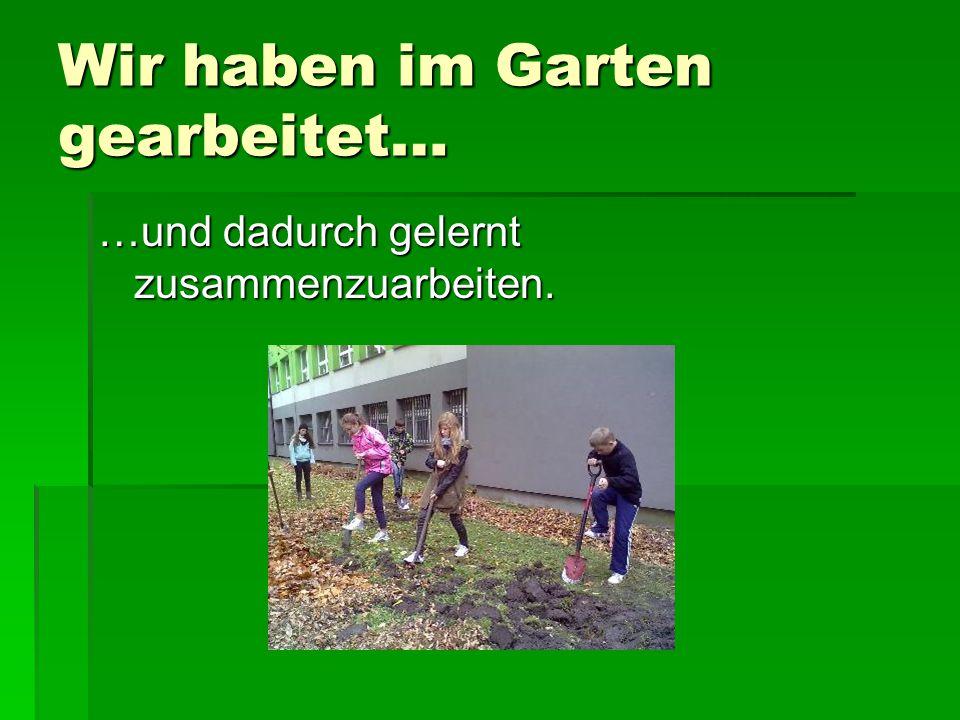 Wir haben im Garten gearbeitet…