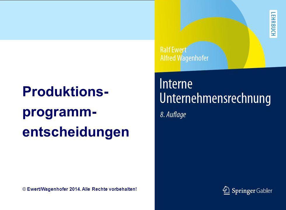 Produktions- programm- entscheidungen
