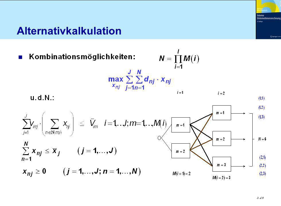 Alternativkalkulation