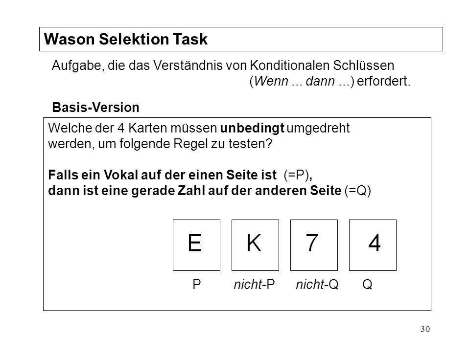 Wason Selektion Task
