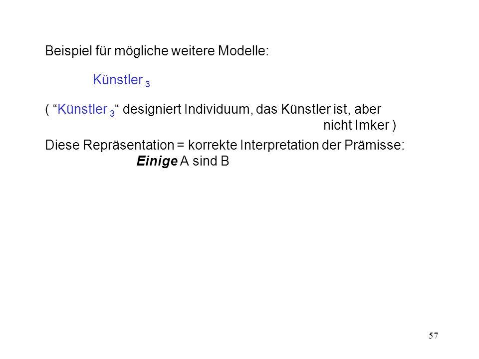 Beispiel für mögliche weitere Modelle: