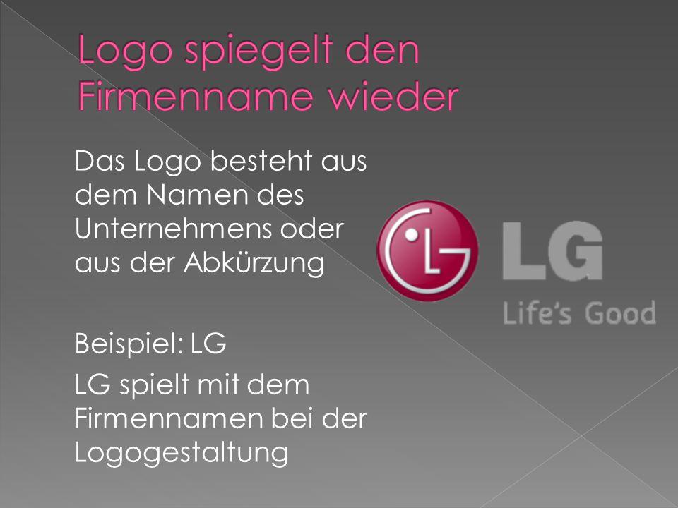 Logo spiegelt den Firmenname wieder