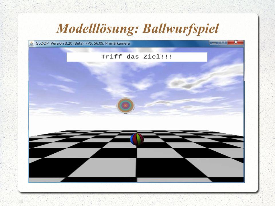 Modelllösung: Ballwurfspiel