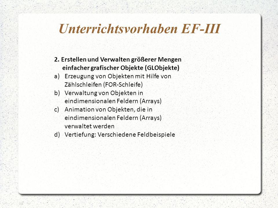 Unterrichtsvorhaben EF-III