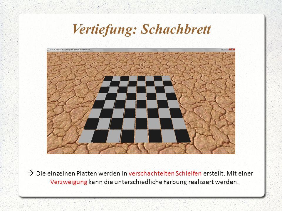 Vertiefung: Schachbrett