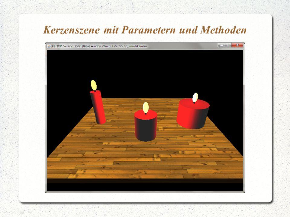 Kerzenszene mit Parametern und Methoden