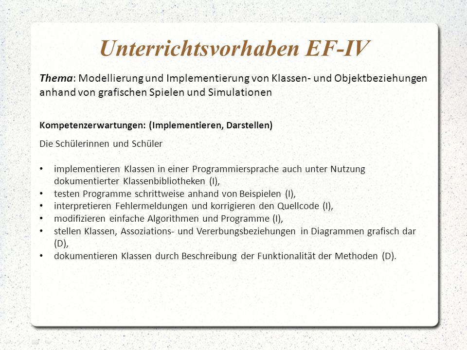 Unterrichtsvorhaben EF-IV