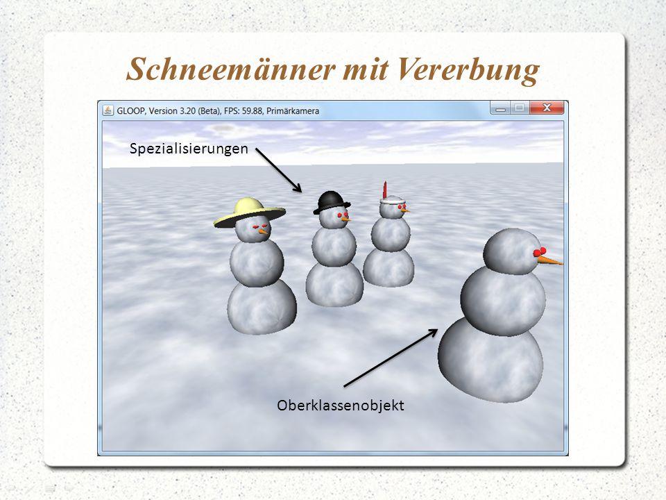 Schneemänner mit Vererbung