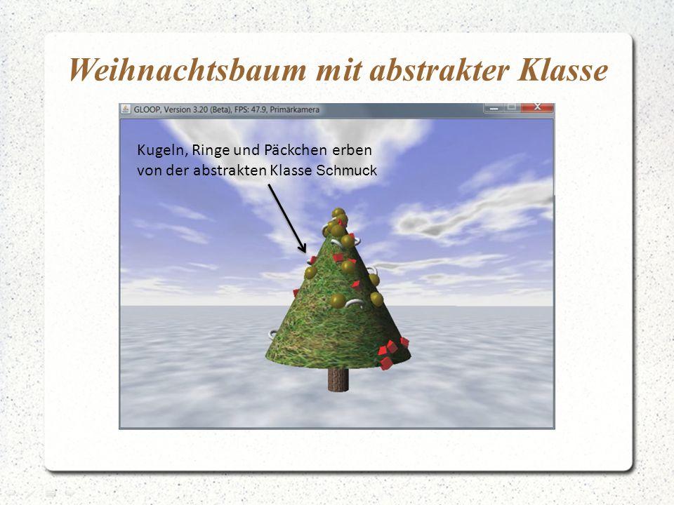 Weihnachtsbaum mit abstrakter Klasse