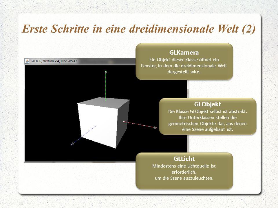 Erste Schritte in eine dreidimensionale Welt (2)