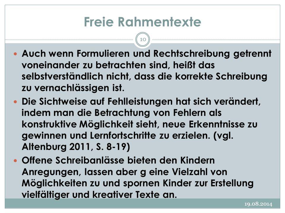 Freie Rahmentexte