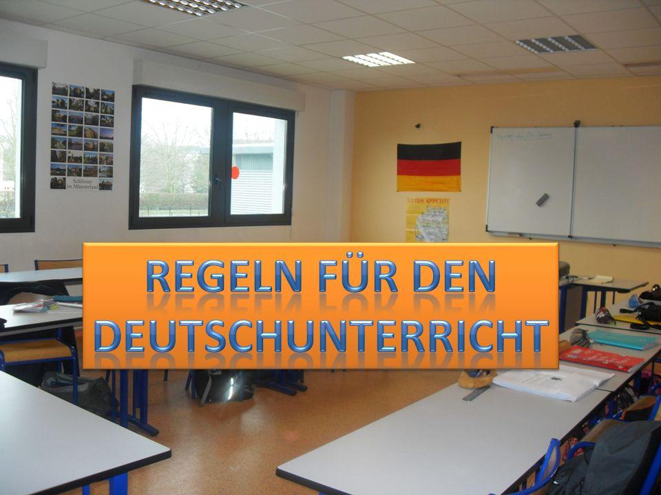 REGELN FÜR DEN DEUTSCHUNTERRICHT