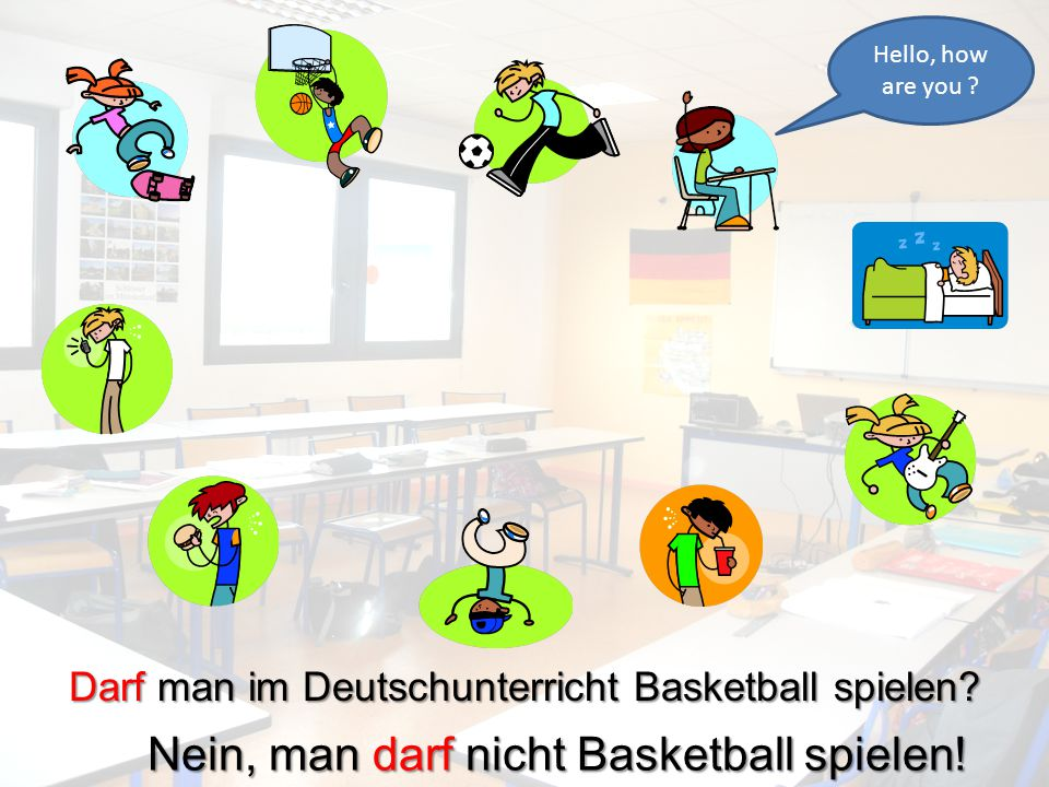Nein, man darf nicht Basketball spielen!