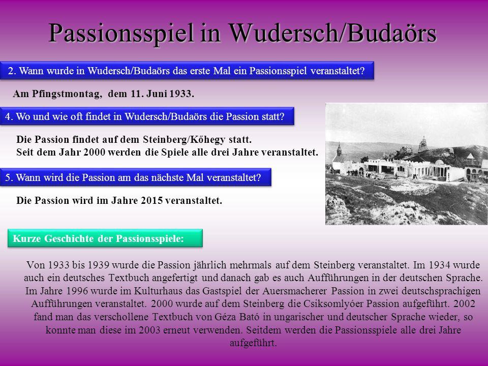 Passionsspiel in Wudersch/Budaörs