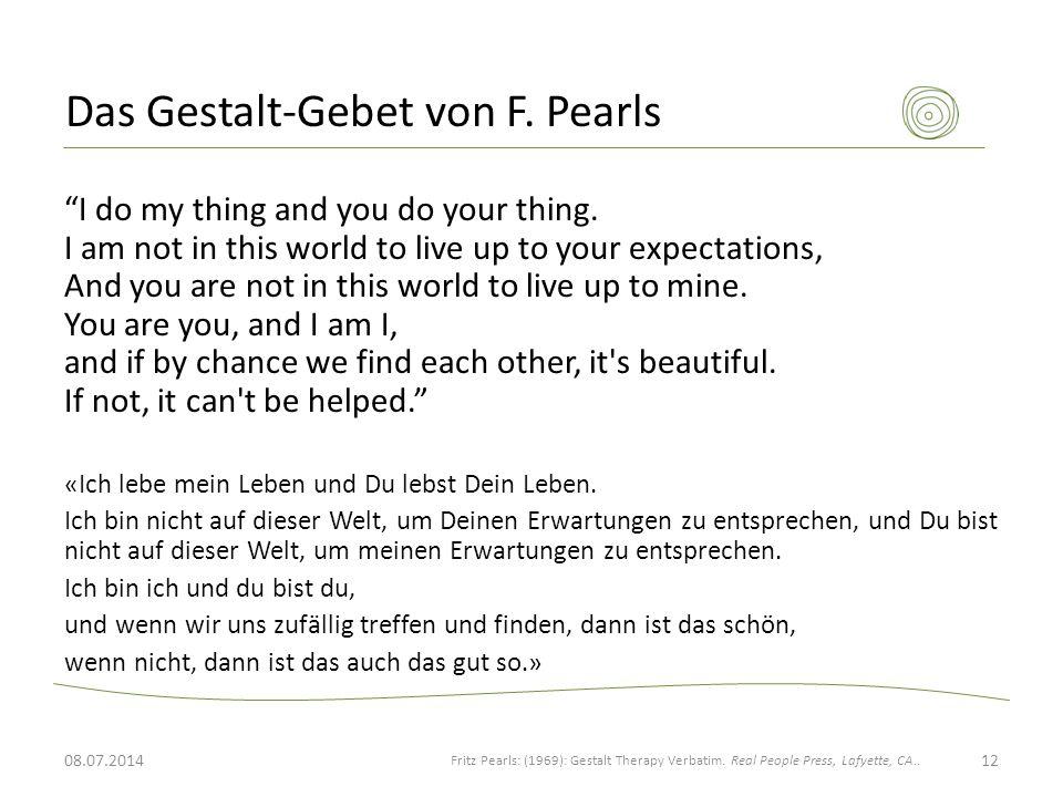 Das Gestalt-Gebet von F. Pearls