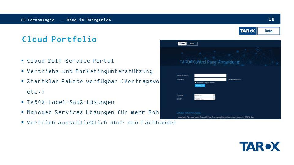 Cloud Portfolio Cloud Self Service Portal