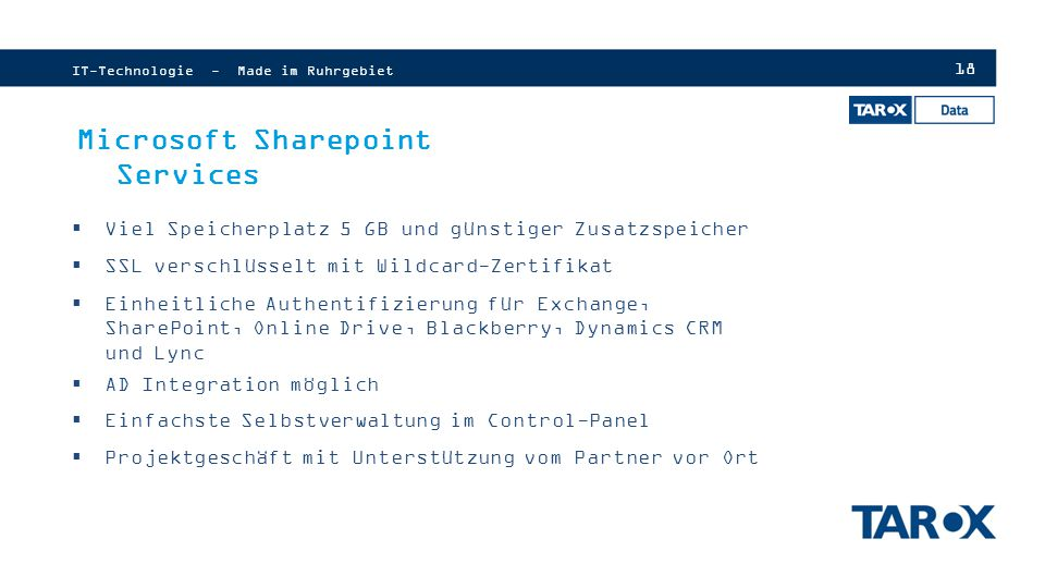 Microsoft Sharepoint Services