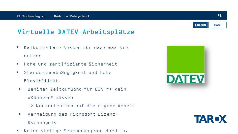 Virtuelle DATEV-Arbeitsplätze