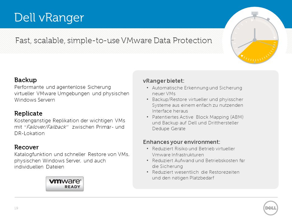 Fast, scalable, simple-to-use VMware Data Protection