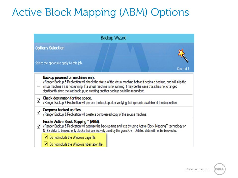 Active Block Mapping (ABM) Options