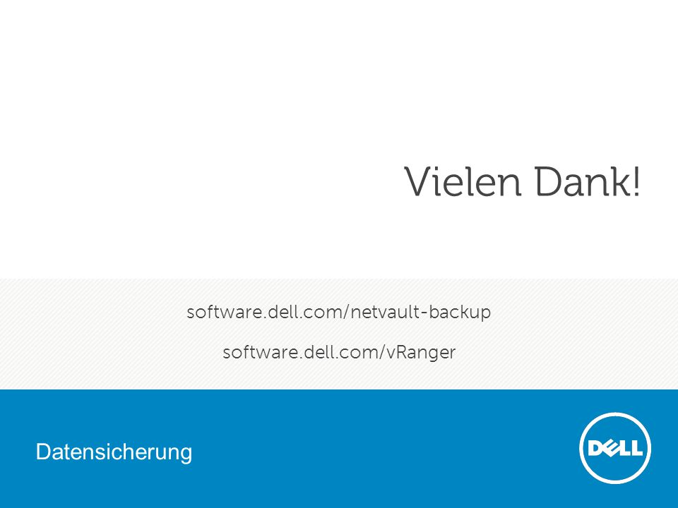 software.dell.com/netvault-backup software.dell.com/vRanger