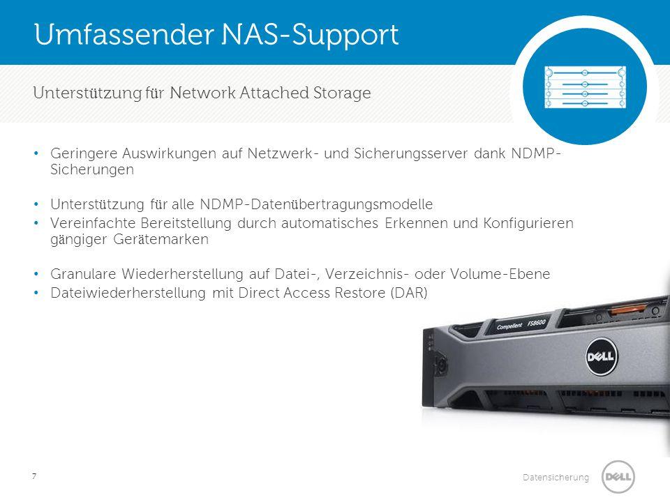 Umfassender NAS-Support