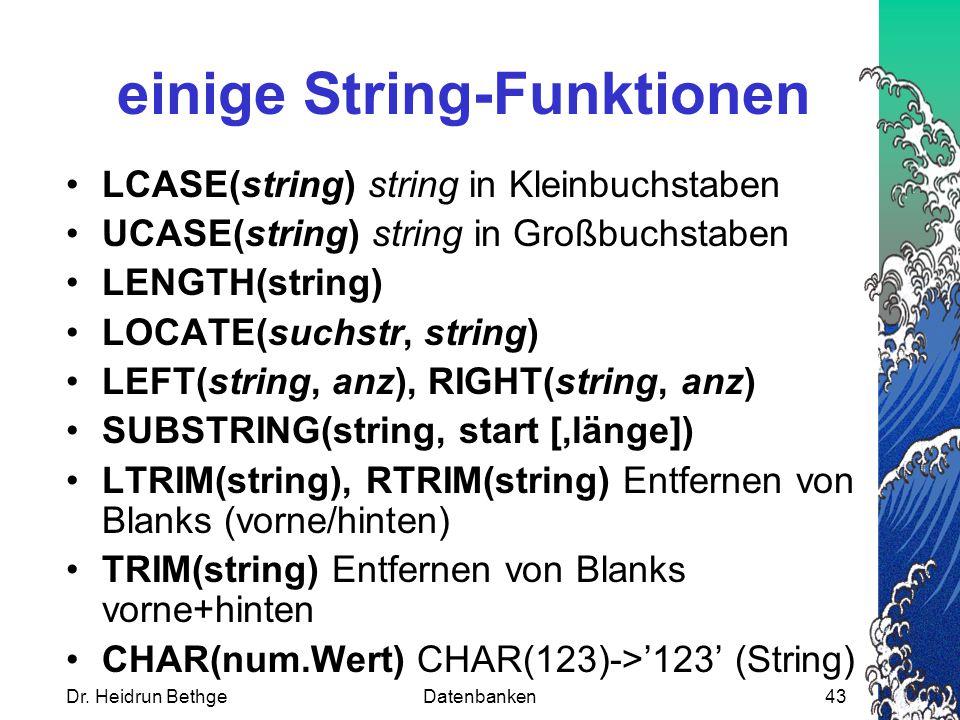 einige String-Funktionen