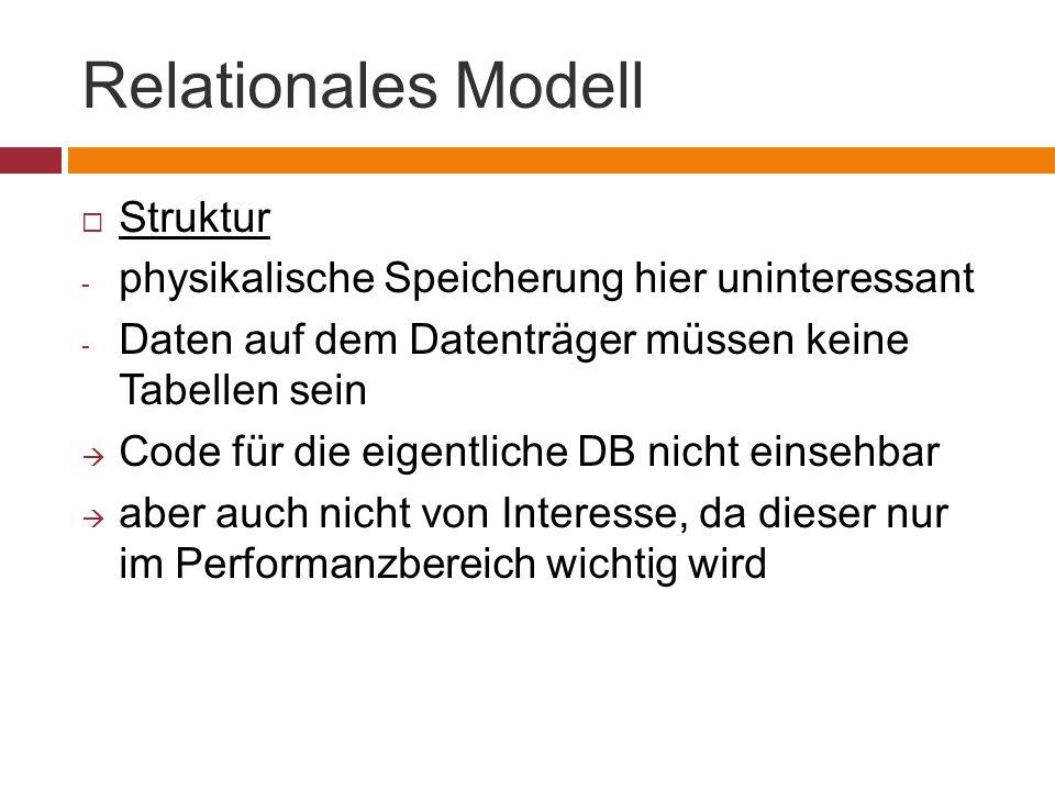 Relationales Modell Struktur