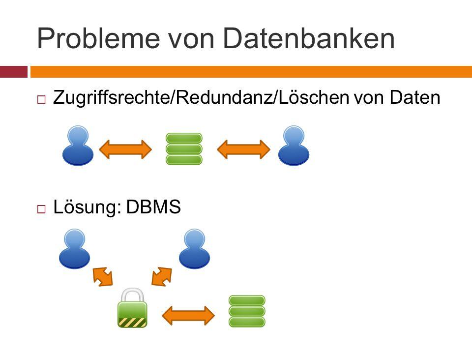 Probleme von Datenbanken