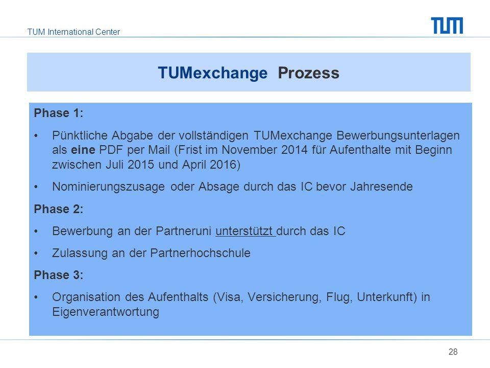 TUMexchange Prozess Phase 1: