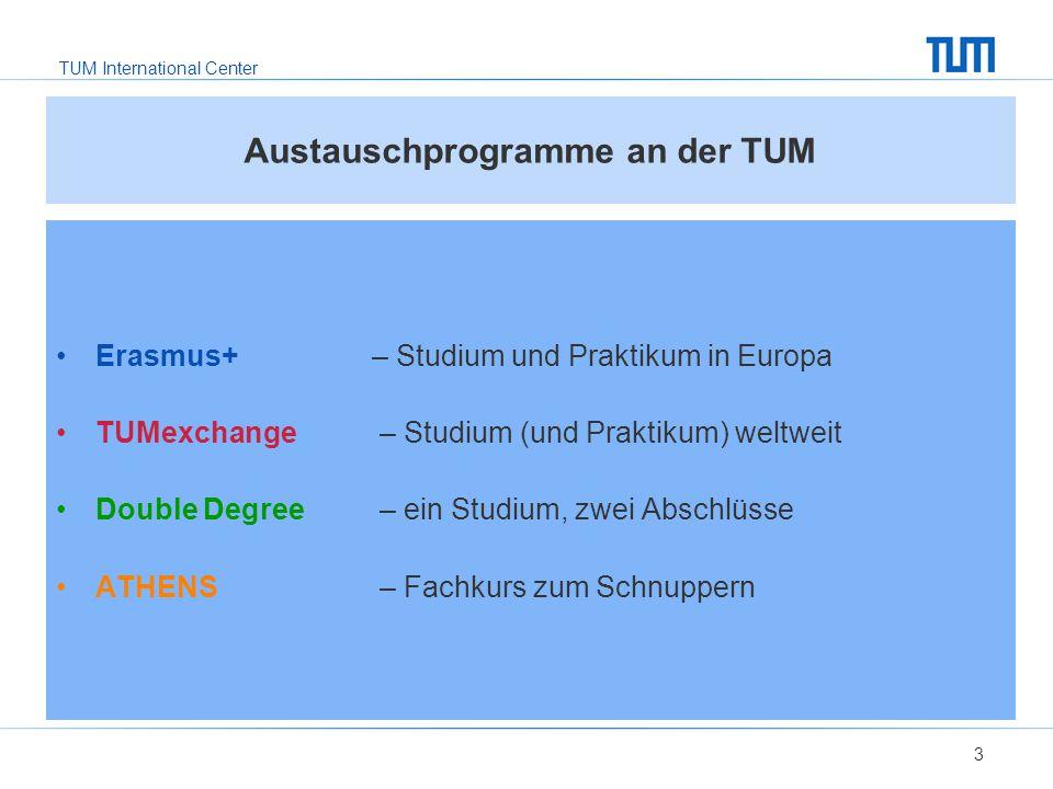 Austauschprogramme an der TUM
