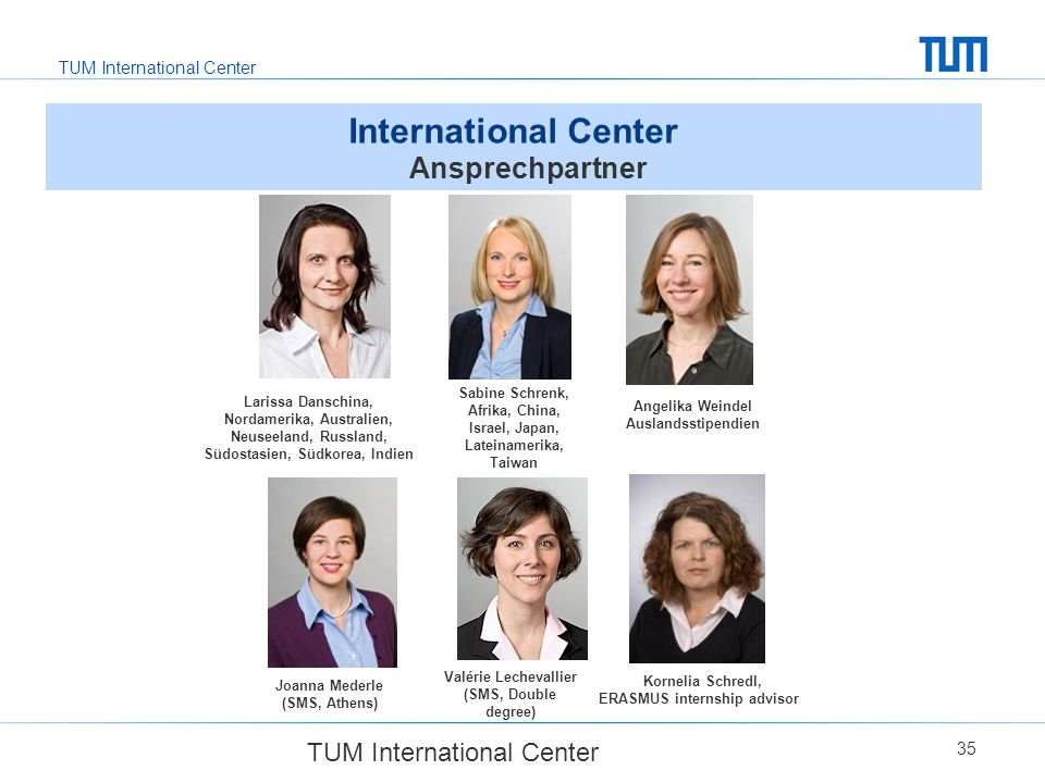 International Center Ansprechpartner