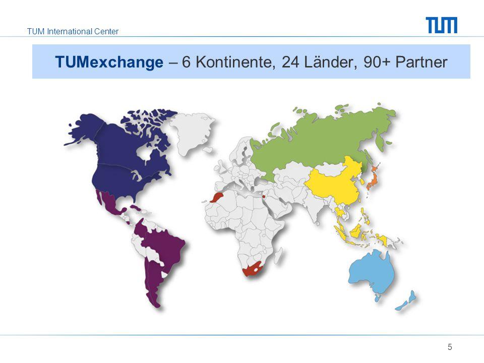 TUMexchange – 6 Kontinente, 24 Länder, 90+ Partner