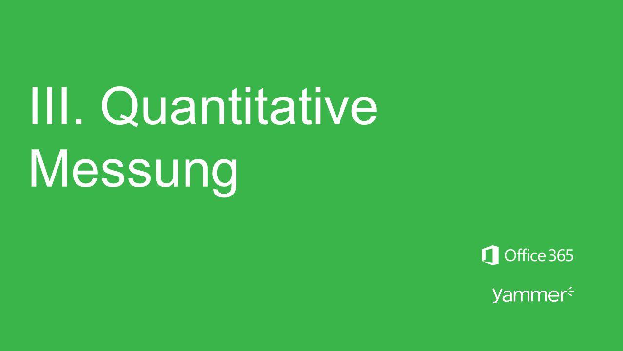 III. Quantitative Messung