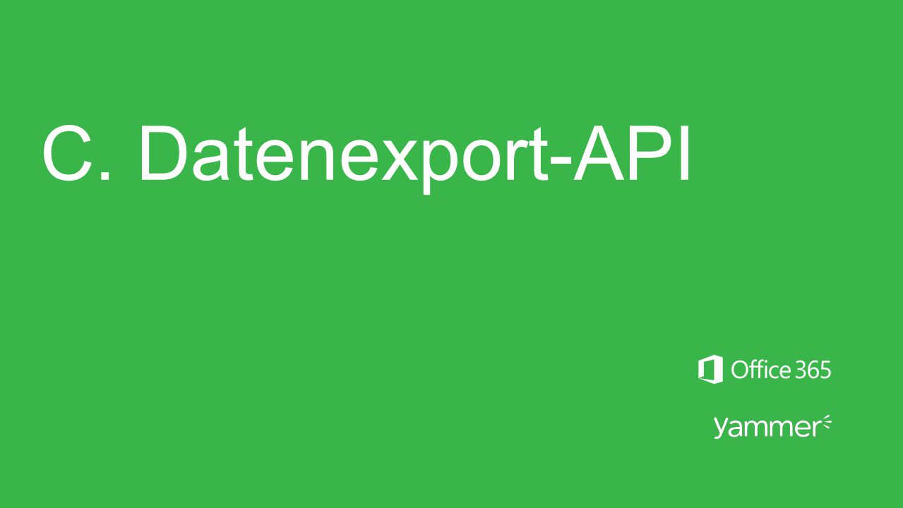 C. Datenexport-API