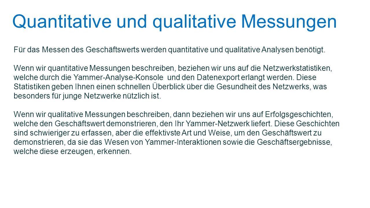 Quantitative und qualitative Messungen