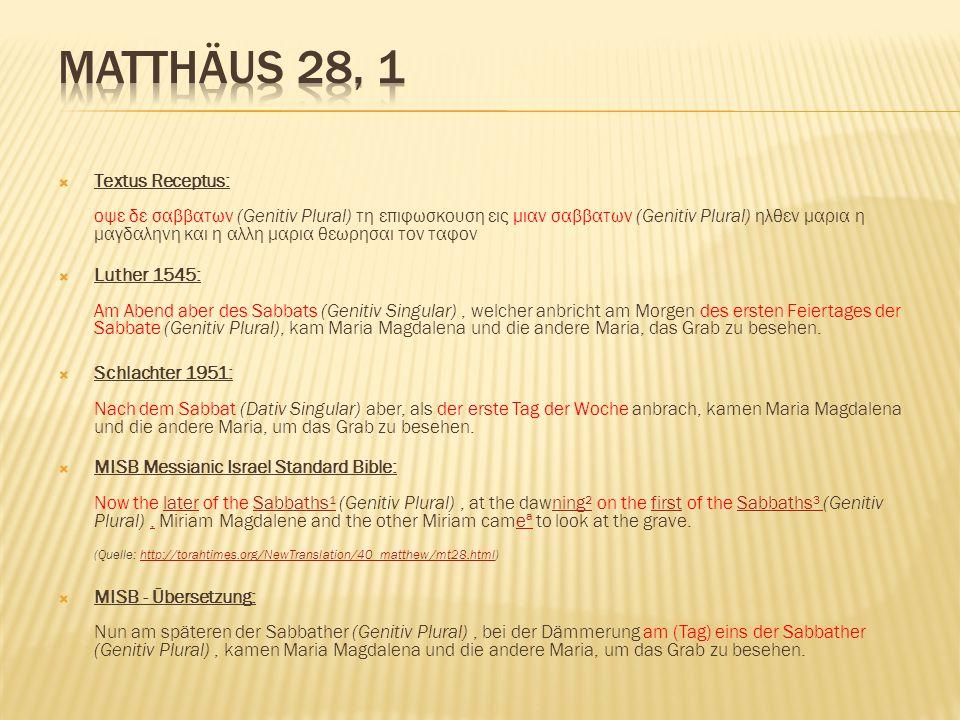 Matthäus 28, 1
