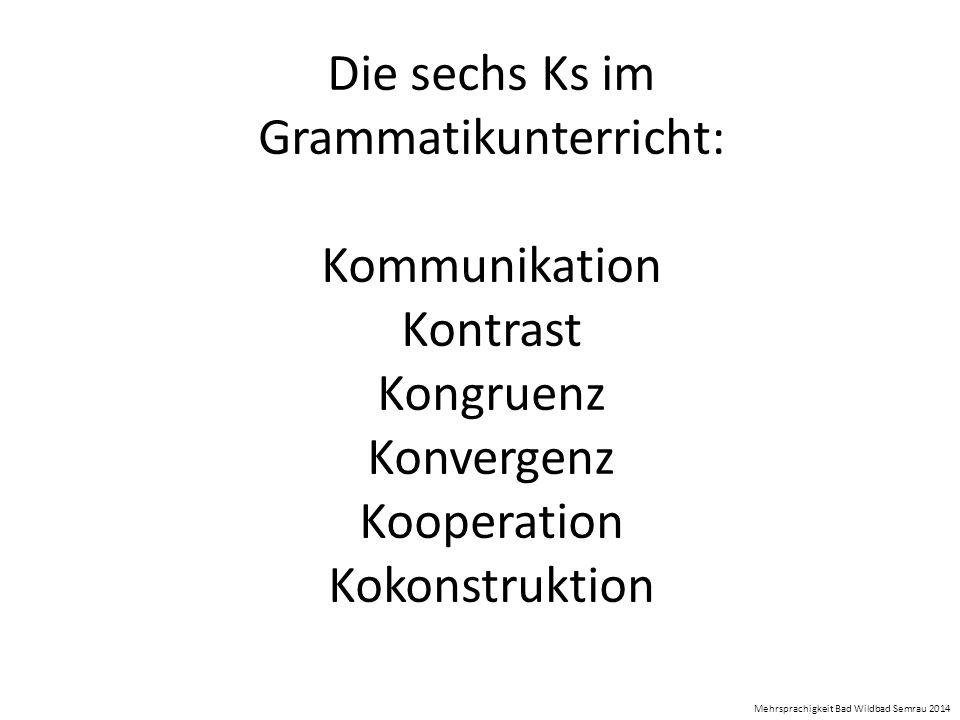 Die sechs Ks im Grammatikunterricht: