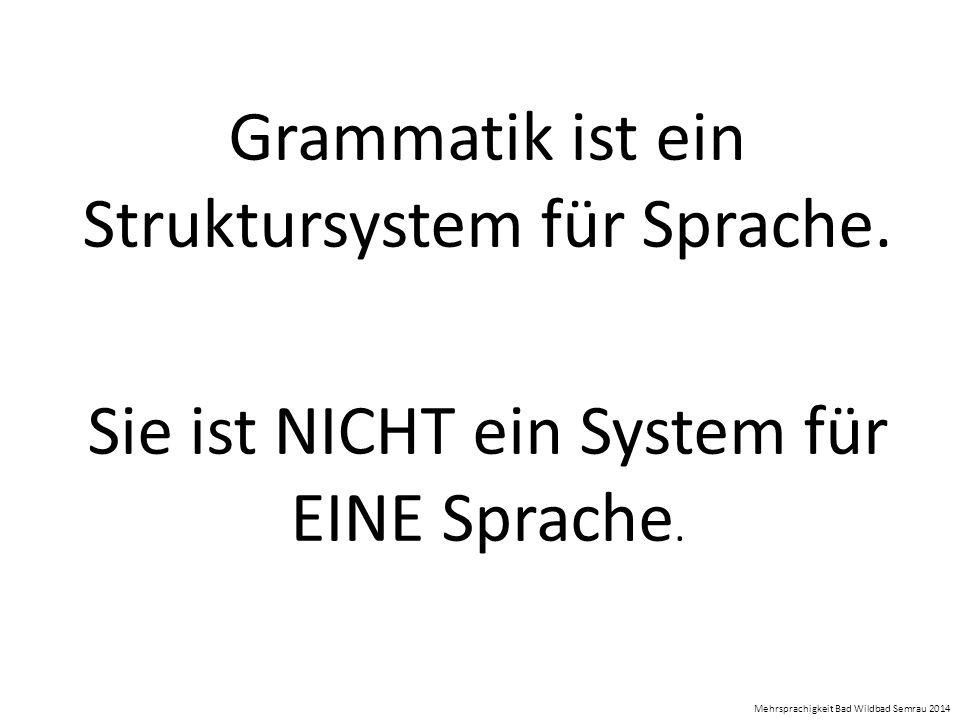 Grammatik ist ein Struktursystem für Sprache.