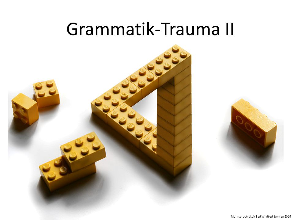 Grammatik-Trauma II Mehrsprachigkeit Bad Wildbad Semrau 2014