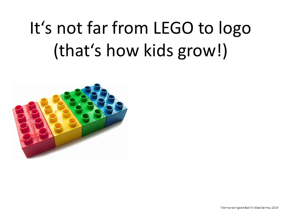 It's not far from LEGO to logo