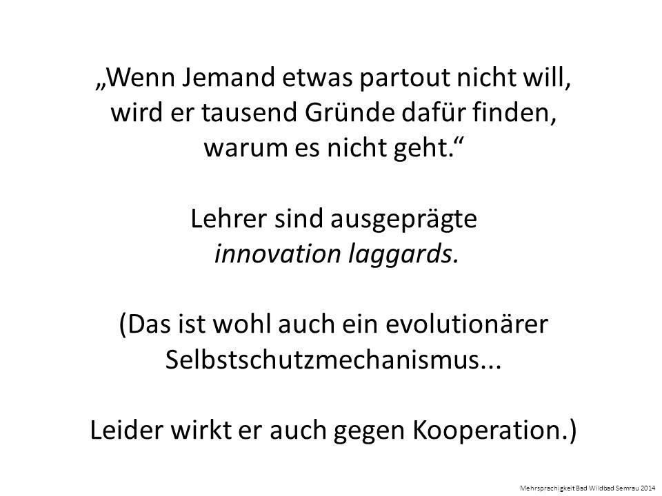 Lehrer sind ausgeprägte innovation laggards.