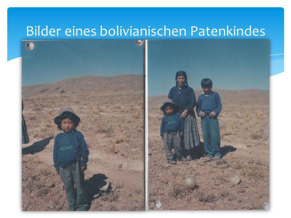 Bilder eines bolivianischen Patenkindes