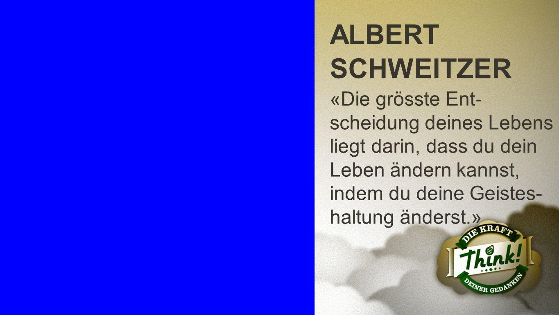 Albert Schweitzer ALBERT SCHWEITZER.