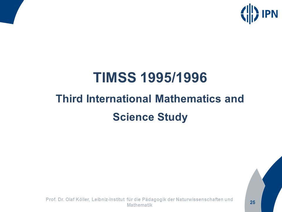Third International Mathematics and Science Study
