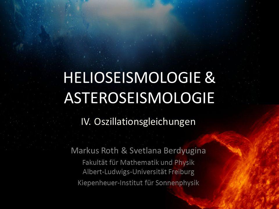 HELIOSEISMOLOGIE & ASTEROSEISMOLOGIE